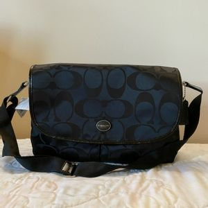 Black messenger Coach bag